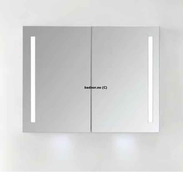 Fabelaktig Sunniva speilskap 90cm m/ LED- belysning og stikkontakt - Badnor.no WO-73
